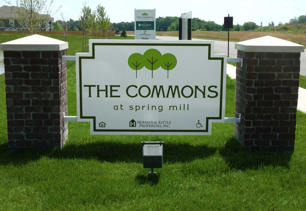 Commons at Spring Mill sign